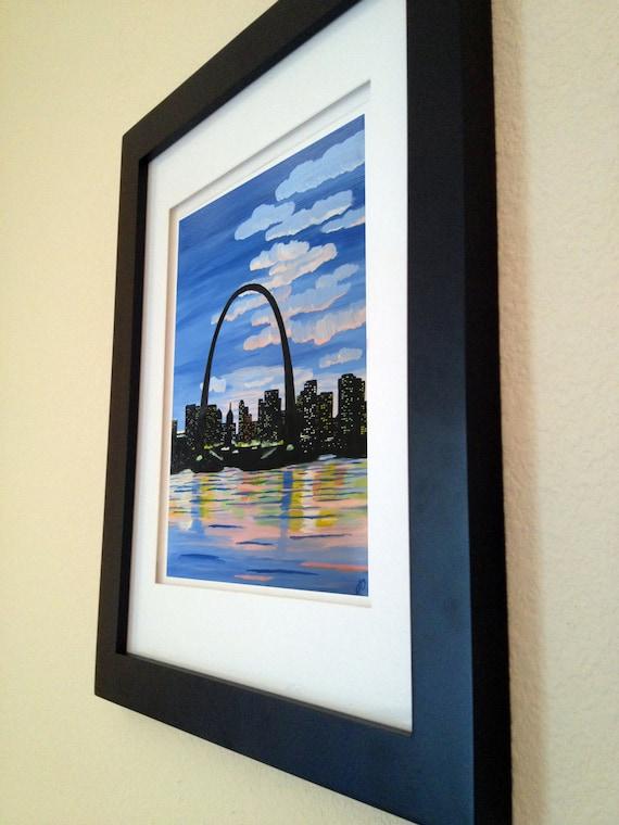 St. Louis Skyline Print by ArtByJosephDalton on Etsy