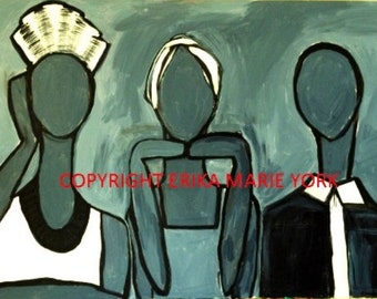 """The Women Original Painting by Erika York 24"""" by 36"""" Canvas"""