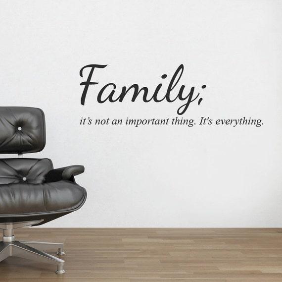 famille mur autocollant decal citation murale mur vinyl. Black Bedroom Furniture Sets. Home Design Ideas