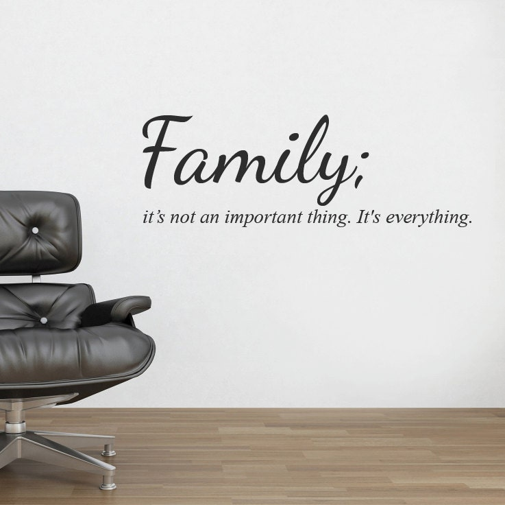 Family Wall Sticker Decal Quote Mural Wall Vinyl Stencil Words