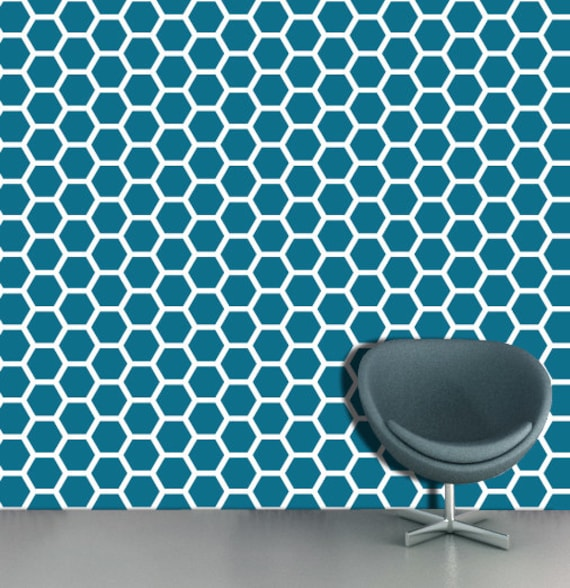 Geometric Wall Stencil Pattern Wall Paper Effect And Paint