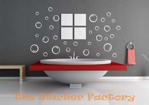 Bathroom Wall Art Bubbles : Bubbles bathroom vinyl decal wall art decor