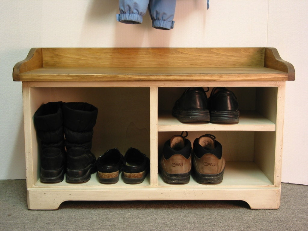 Shoe cubby entry bench storage cabbies wood storage bench Entryway shoe storage bench