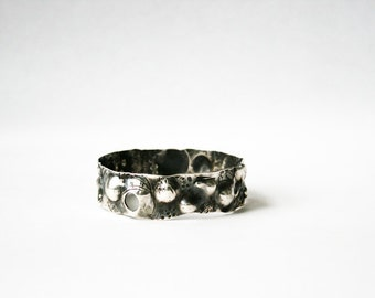 Moonscapes:  Sterling Silver Bangle Bracelet - 5 in stock