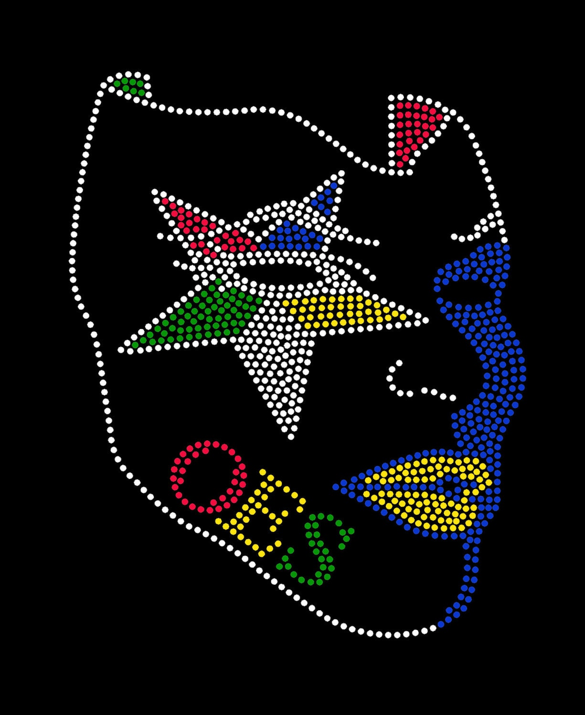 Oes Mask Custom Rhinestone Bling Studded T Shirts