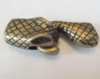 Brass Snake Head Clasp