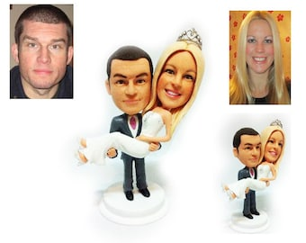Personalised wedding cake topper - My Queen (Free shipping)