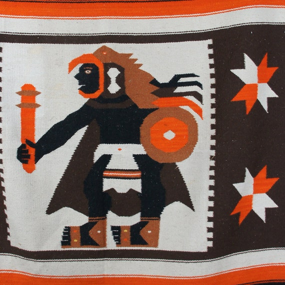 Vintage Mexican Blanket / Area Rug
