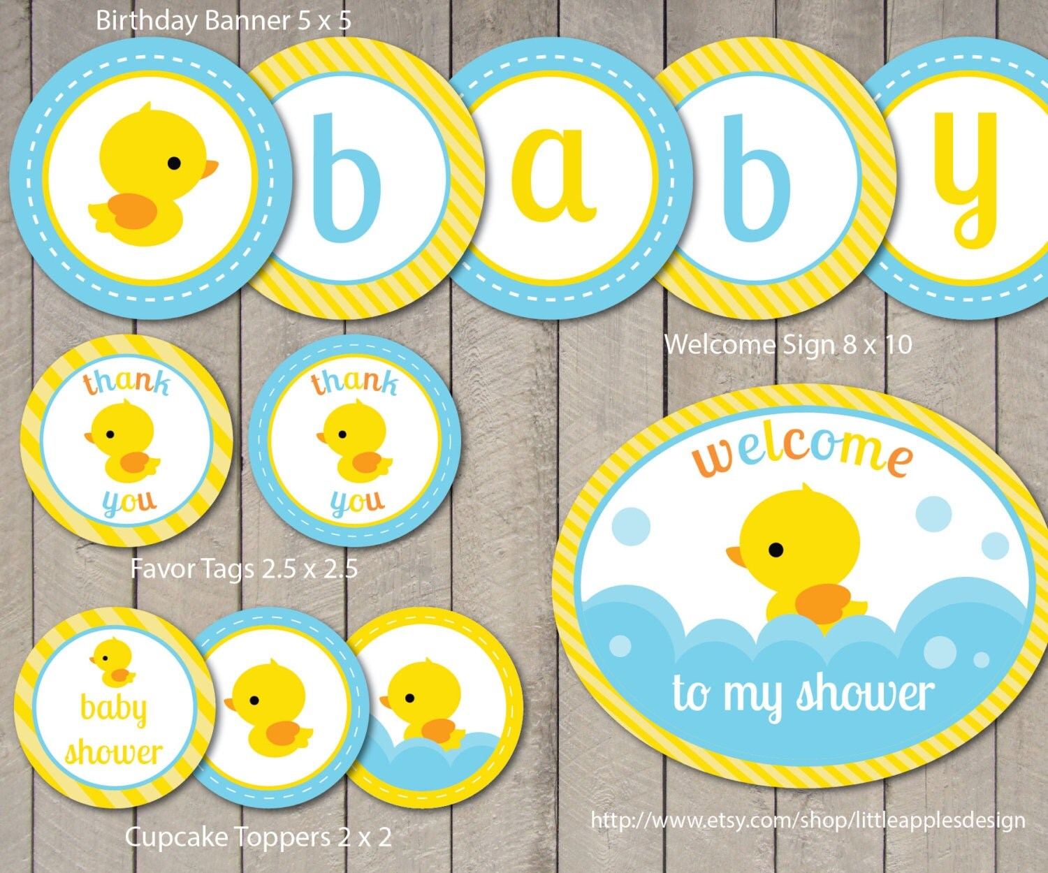 rubber duck baby shower package rubber duck baby by dreamyduck