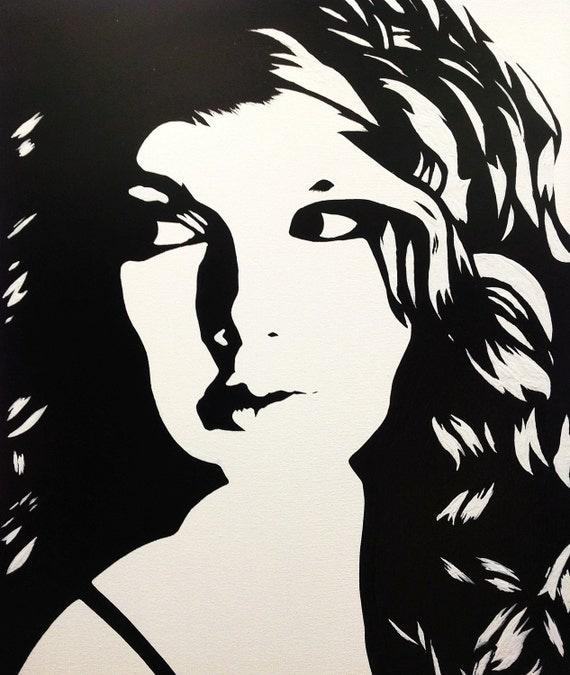 items similar to taylor swift black amp white pop art