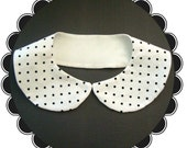 White and Black Polka Dot Peter Pan Collar
