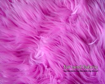 Hot Pink Shag Faux Fur Fabric Fuchsia Shaggy Fun Fur Great For Baby Photos,  Rugs