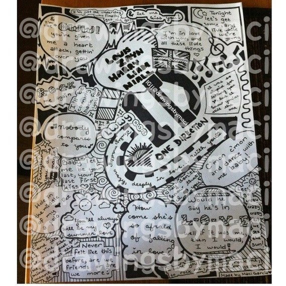 One direction collage drawing tumblr