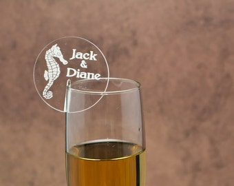 Champagne Glass Name Tags And Charms Bride By