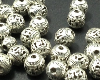 20 pcs x 8 mm Tibetan beads for making jewelry  make your own jewelry style 2(C538)