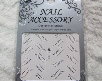 Y-Silver-105 Nail Art Water Decal Nail Art Water Transfer Sticker DIY Nail Art