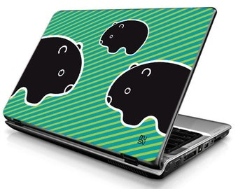 Laptop Decals - Laptop Skins - Laptop Stickers - Laptop Vinyl - Wombat (blue)