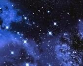 Galaxy Space Stoff Weltraum Sterne Universum Kinder Deko Timeless Treasures 0,5  m USA Designerstoff reine Baumwolle
