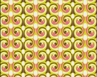 Bright french curls Dreaming in French art gallery fabrics 0,5 m pure Cotton