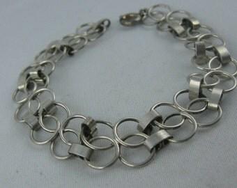 Art Deco silver bracelet made of silver Ag 800. VINTAGE silver TREASURE