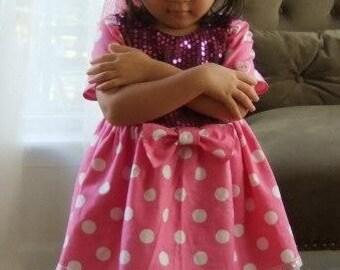Cute mini mouse dress for little girl