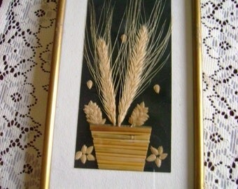 Handmade Wall Picture of Dried Plants