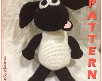 "Sheep Plushie - 14"" Sheep - Amigurumi Crochet Plushie"