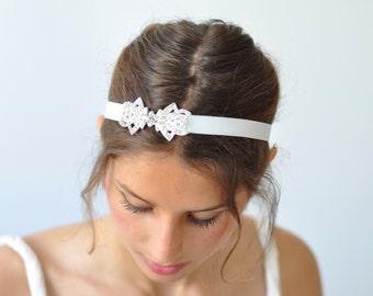 Elastic Bridal Headband Bridal Headband Crystal ,wedding rhinestone headband,bridal hair piece,Swarovski bridal headbands,wedding headpieces