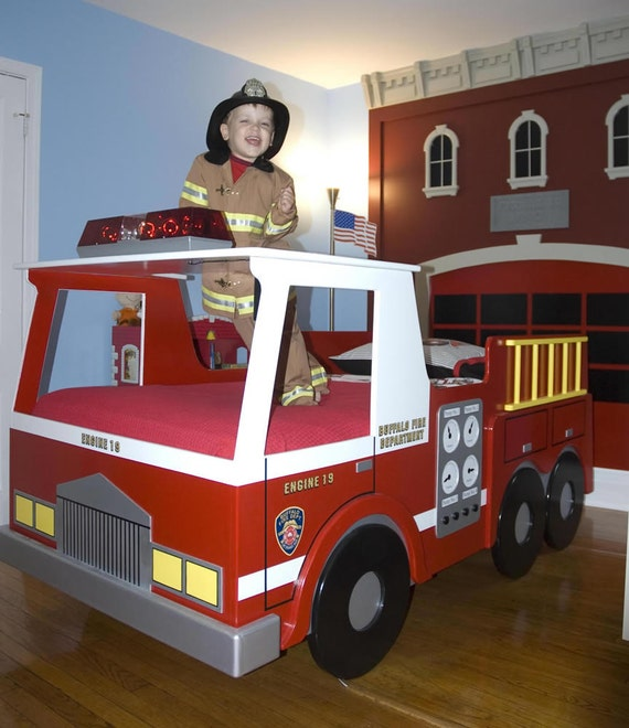 How To Build A Fire Truck Toddler Bed
