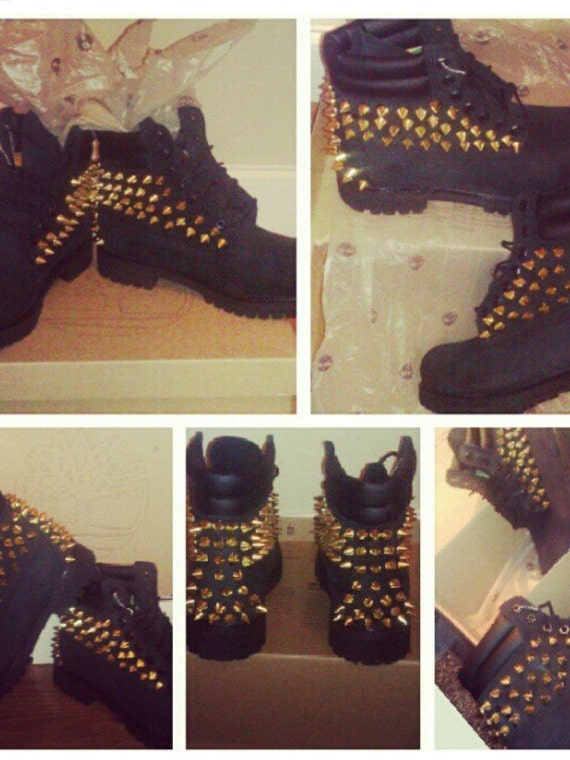 Customized Timberlands With Spikes Custom Spiked Timberland