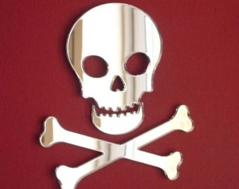 Pirate Skull and Crossbones Mirror 12cm x 10cm