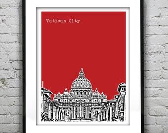 Vatican City Poster Italy Art Print Skyline