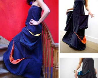 Dress Tempue, strapless, wife, size M (38)