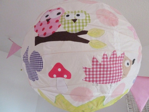 items similar to lampshade rice paper lamp shade kids lamp shade children handmade lampshade on. Black Bedroom Furniture Sets. Home Design Ideas