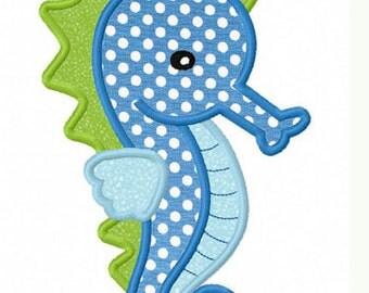 Sea Horse Applique Machine Embroidery Design NO:0022