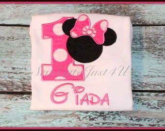 Minnie Mouse Personalized Birthday Number Shirt