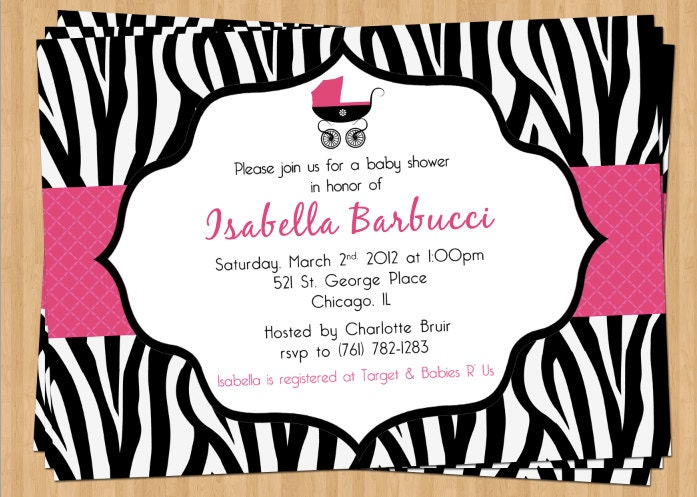 Zebra Baby Shower Invitations is an amazing ideas you had to choose for invitation design
