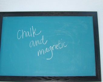 Recycled Framed Magnetic Chalkboard