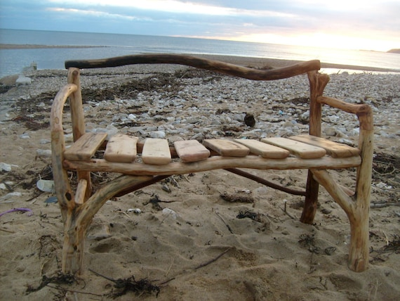 Items Similar To Handcrafted Driftwood Bench On Etsy
