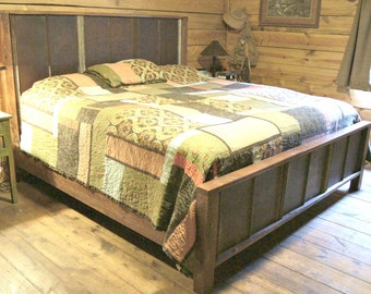 Reclaimed Wood and Vintage Tin Bed - King - Free Shipping