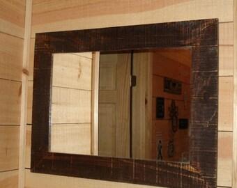 Rustic Reclaimed BarnWood Mirror - Medium