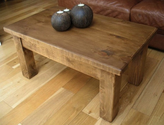 Rustic Reclaimed Wood Coffee Table By Theshopatrockcreek