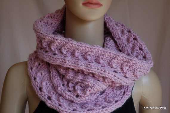 Free shipping Alpaca blend wool knitted cowl by ...