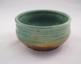 Small Decorative Bowl - blue glass inside