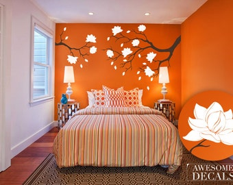 Flower Branch Decal – Flower Wall Decals - Nursery Wall Decal - Custom Decals - Branch Wall Decal - Vinyl Wall Decals - Awesome decals / 066