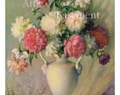 Floral Flower Arrangement in White Vase DIGITAL Image JPEG Format - AtticBasement