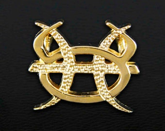 23 Taurus and Pisces Gold Unity Pendant
