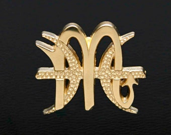 68 Scorpio and Pisces Gold Unity Pendant