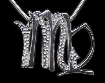 53 Virgo and Scorpio Silver Unity Pendant