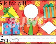 G is for GIFT Alphabet File Folder Game - Downloadable PDF Only